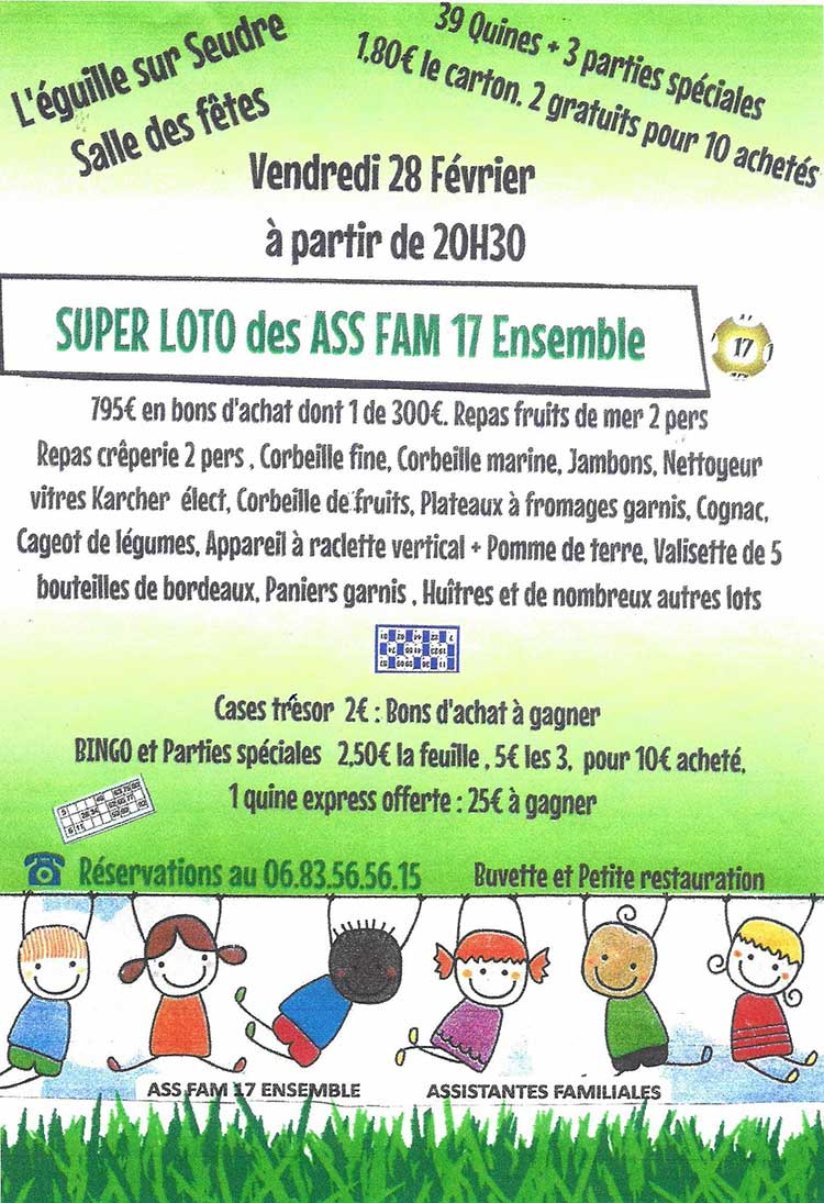 Super Loto  | ASS FAM 17 Ensemble 28 fevrier